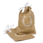 HBH™ Horseshoe Burlap Favor Bags With Twine Drawstring Closure, Brown