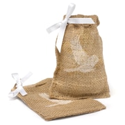 HBH™ Bird Burlap Favor Bags With Twine Drawstring Closure, Brown