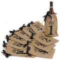 HBH™ 1-10 Burlap Table Number Wine Bags, Brown