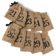 HBH™ 21-30 Burlap Table Number Wine Bags, Brown