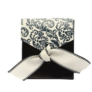 HBH™ Flourish Favor Boxes, Ivory/Black