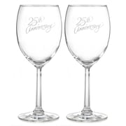 Hortense B. Hewitt, 25th Anniversary Wine Glasses, Clear