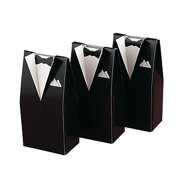 HBH™ Formal Tuxedo Favor Boxes, Black