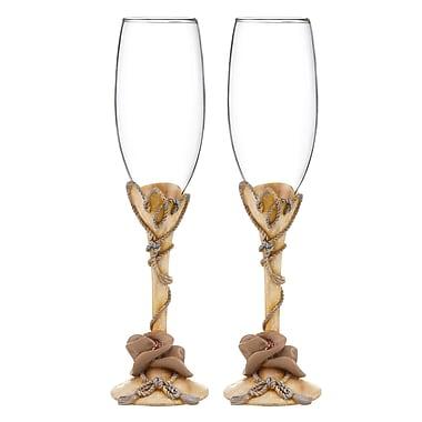 Hortense B. Hewitt, Country Flair Flute Glasses, Clear