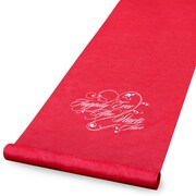 "HBH™ ""Happily Ever After"" Aisle Runner With Pull Cord, 36"" x 100', Red"