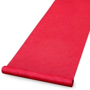 "HBH™ Blank Aisle Runner With Pull Cord, 36"" x 100', Red"