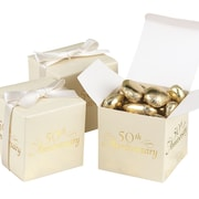 "HBH™ ""50th Anniversary"" Favor Boxes, Ivory"
