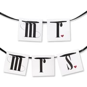 HBH™ Mr and Mrs Chair Banners, White