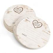 HBH™ Wood grain Design Coasters, White