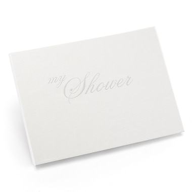 HBH™ My Shower Small Guest Book, White