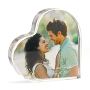 "HBH™ 4""(H) Heart Photo Cake Top, Clear"
