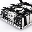 HBH™ Reversible Flourish Wrap Favor Boxes, Black/White
