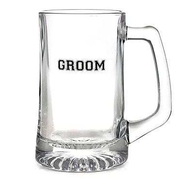 HBH™ 15 oz. Groom Glass Mug, Clear