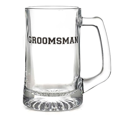 HBH™ 15 oz. Groomsman Glass Mug, Clear