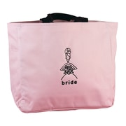 "HBH™ 12"" x 6 1/2"" x 14"" ""Bride"" Tote Bag With Black Handles, Light Pink"