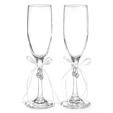 Hortense B. Hewitt, Hearts Desire Flute Glasses, Clear