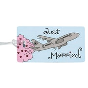 HBH™ 4 1/4 x 2 1/4 Just Married Luggage Tag, Sky Blue