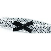HBH™ Polka-Dotted Garter With White Satin Accented and Bow, Black