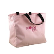 HBH™ Flower Girl Tote Bag With Black Handles, Pink