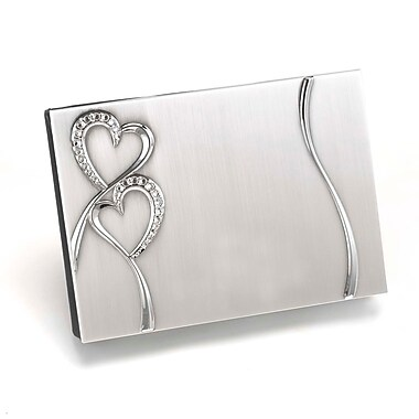 HBH™ Sparkling Love Guest Book, Silver