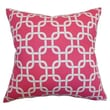 The Pillow Collection Qishn Geometric Cotton Pillow; Candy Pink