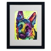 Trademark Fine Art 'German Shepherd' 16 x 20 Black Frame Art
