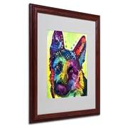 Trademark Fine Art 'German Shepherd' 16 x 20 Wood Frame Art