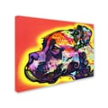 Trademark Fine Art 'Profile Boxer' 35in. x 47in. Canvas Art