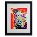 Trademark Fine Art 'Thoughtful Pitbull' 16in. x 20in. Black Frame Art
