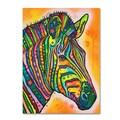 Trademark Fine Art 'Zebra' 26in. x 32in. Canvas Art