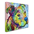 Trademark Fine Art 'Thoughtful Pitbull III' 24in. x 24in. Canvas Art