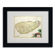 "Trademark Fine Art 'Map of Ceylon 1626' 11"" x 14"" Black Frame Art"