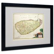 "Trademark Fine Art 'Map of Ceylon 1626' 16"" x 20"" Black Frame Art"