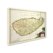Trademark Fine Art 'Map of Ceylon 1626' 26 x 32 Canvas Art
