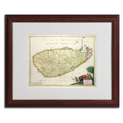 Trademark Fine Art 'Map of Ceylon 1626' 16 x 20 Wood Frame Art