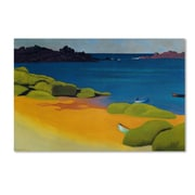 "Trademark Fine Art 'Bay of Tregastel 1917' 30"" x 47"" Canvas Art"