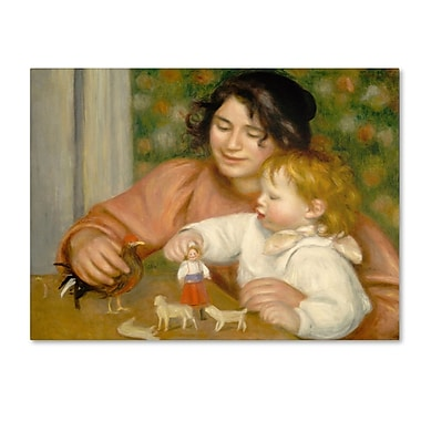Trademark Fine Art 'Child With Toys 1895-96' 35