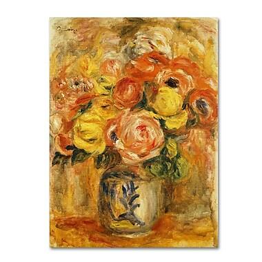 Trademark Fine Art 'Fleurs Dans Un Vase Bleu et Blanc' 18