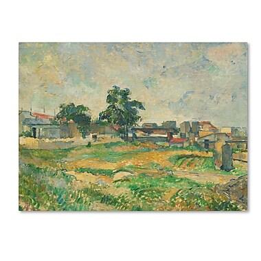 Trademark Fine Art 'LandScape Near Paris 1876' 18
