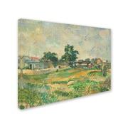 "Trademark Fine Art 'LandScape Near Paris 1876' 14"" x 19"" Canvas Art"