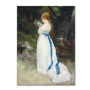 Trademark Fine Art 'Lady In White' 14 x 19 Canvas Art
