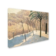 "Trademark Fine Art 'Snowy LandScape 1925' 14"" x 19"" Canvas Art"