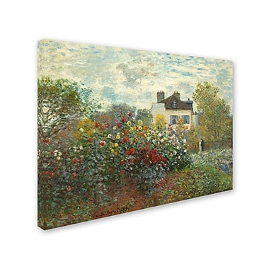 Trademark Fine Art 'The Artist's Garden in Argentueil' 24