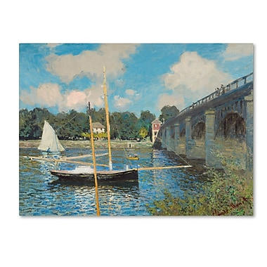 Trademark Fine Art 'The Bridge at Argenteuil 1874'