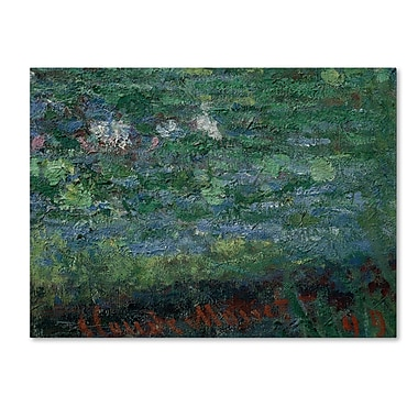 Trademark Fine Art 'The 'Waterlily Pond Green Harmony'