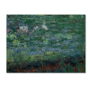 Trademark Fine Art 'The 'Waterlily Pond Green Harmony' 14 x 19 Canvas Art
