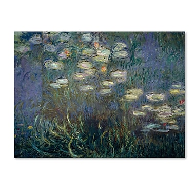 Trademark Fine Art 'Water Lilies 1840-1926'