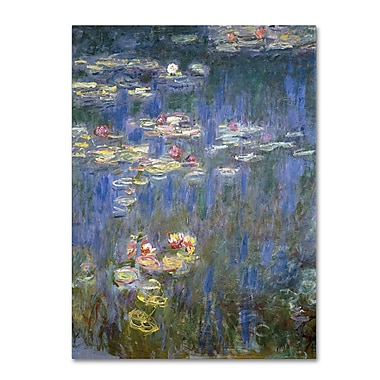 Trademark Fine Art 'Water Lilies IV 1840-1926' 35