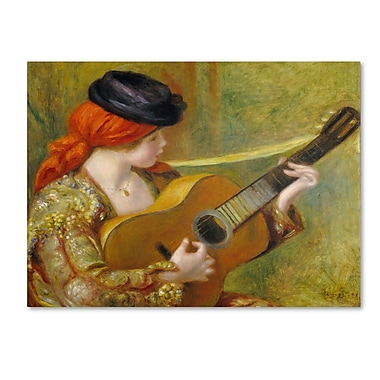 Trademark Fine Art 'Young Spanish Woman With a Guitar'