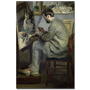 Trademark Fine Art 'Frederic Barille at his Easel 1867' 22